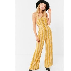 Urban Outfitters Ameliana Button Down Jumpsuit